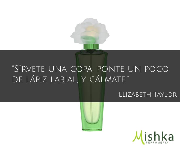 """""""Sírvete una copa, ponte un poco de lápiz labial, y cálmate."""" #ElizabethTaylor #Frases #Quotes www.mishka.mx"""