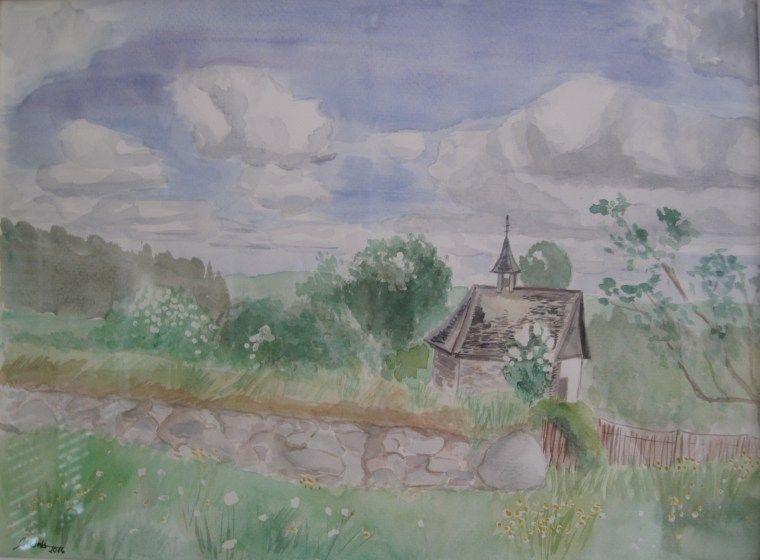 Schenzlihofkapelle (Aquarell 30x40, 2016)