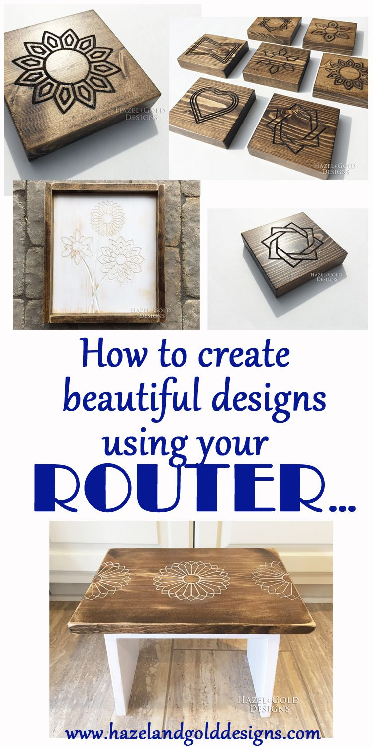 Diy Wood Designs Using A Router Woodworking Tips Pinterest