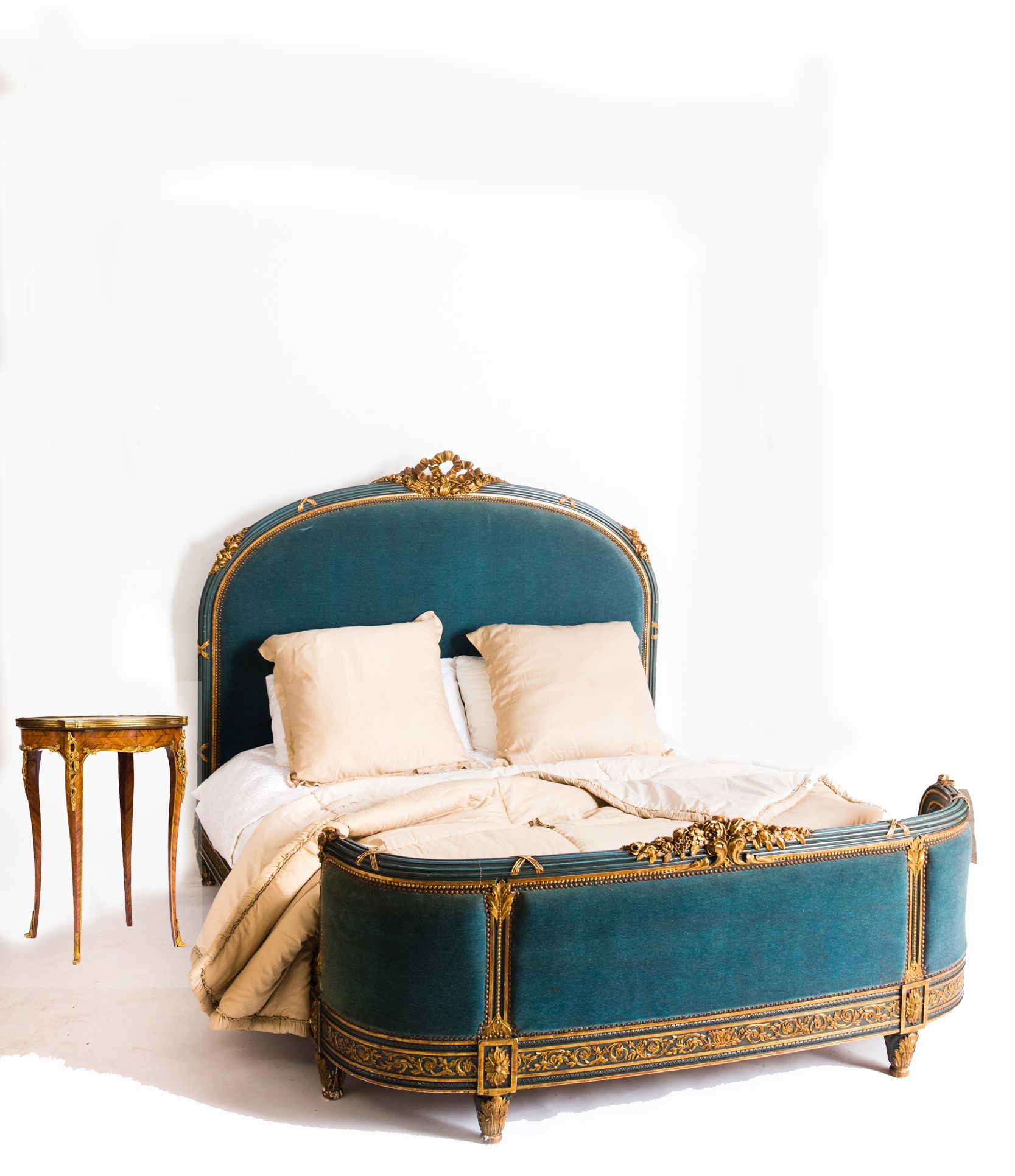 Exceptional 19th century French Louis XVI Queen Size Bed