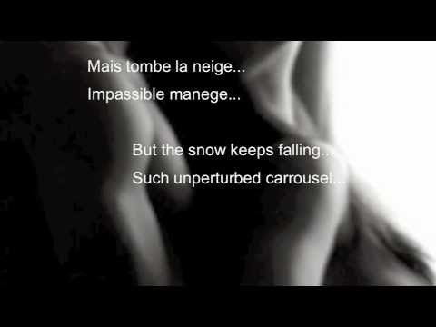 Tombe La Neige Paroles Lyrics The Snow Is Fallin By Adamo Playl With Images Parole Relaxing Music Lyrics