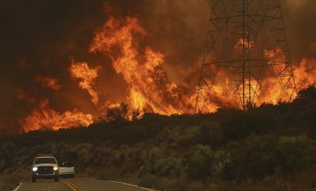 Los Angeles Forest Fire Doubles In Size Overnight English Xinhua Forest Fire California Wildfires Fire