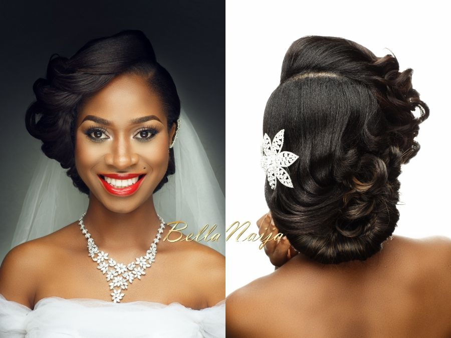 50 Wedding Hairstyles For Nigerian Brides And Black: Wedding Day Makeup For Black Brides
