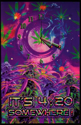 WEED BLACKLIGHT 23 x 35 POSTER FUNKY MONKEY