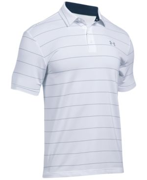 5e7b9afa3 Under Armour Men's Playoff Performance Striped Golf Polo - White XXXL