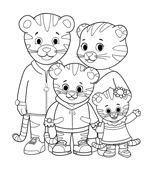 happy birthday tiger coloring pages | Daniel Tiger Printables | Daniel tiger birthday, Daniel ...