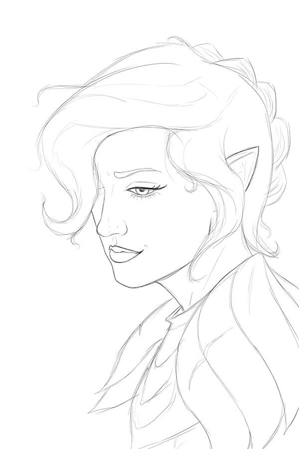 "Karbacca on Twitter: ""Sketching a portrait of @TheVulcanSalute's #Pike! Not enough gnome cleric love! #CriticalRole #Critters https://t.co/jzuymCOJaL"""