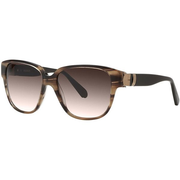 b48ec47e779c Balmain Square Tortoise (Green) Shell Acetate Sunglasses featuring  polyvore
