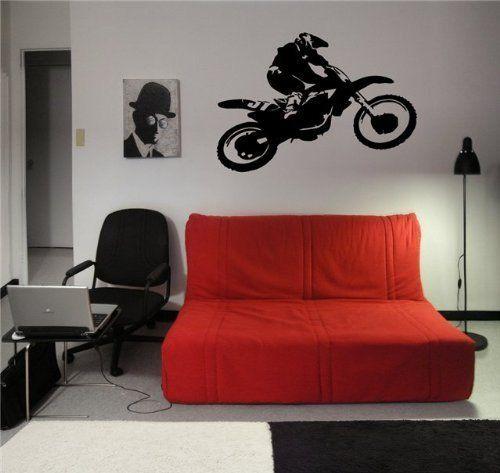 Motocross Dirt Bike Wall Decal Sticker Boys Room Nursery Idea Kid Decor Wall  Decal Art Vinyl Part 66