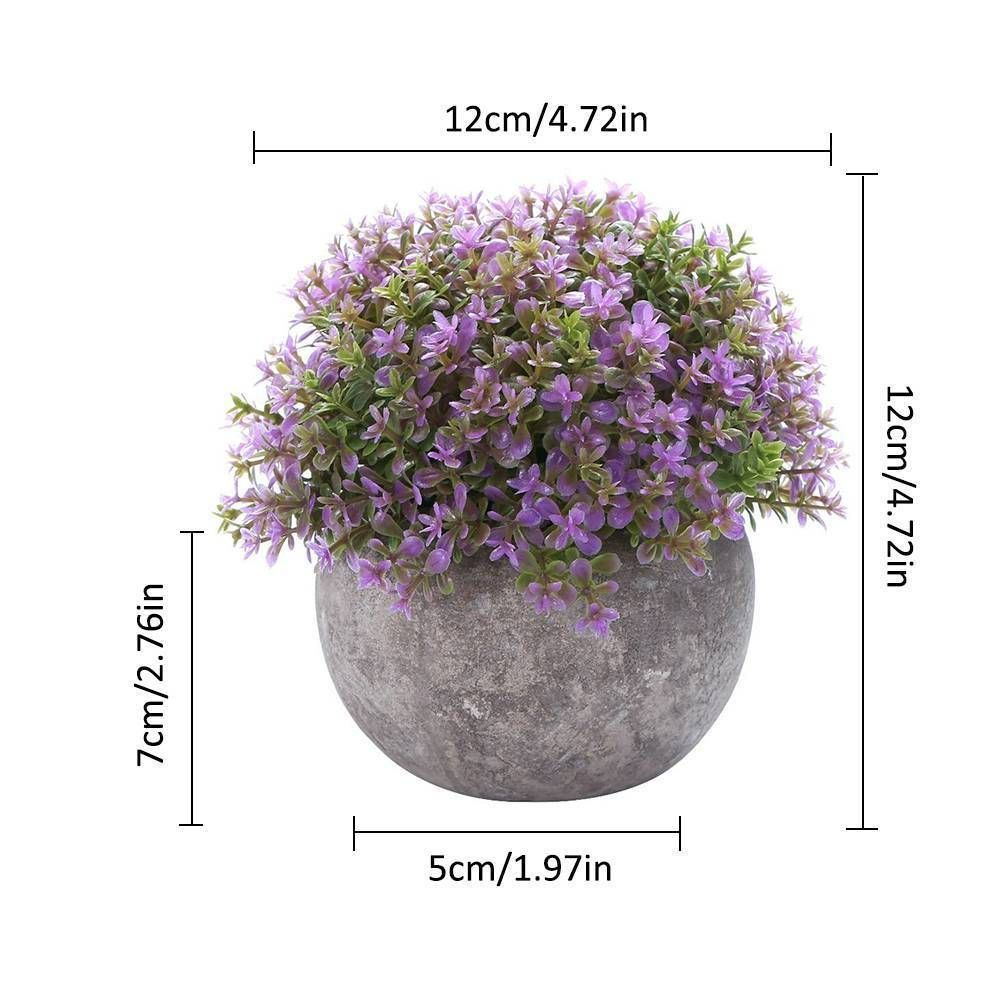 Artificial Fake Flower Pot Plant Green Grass Orchid Home