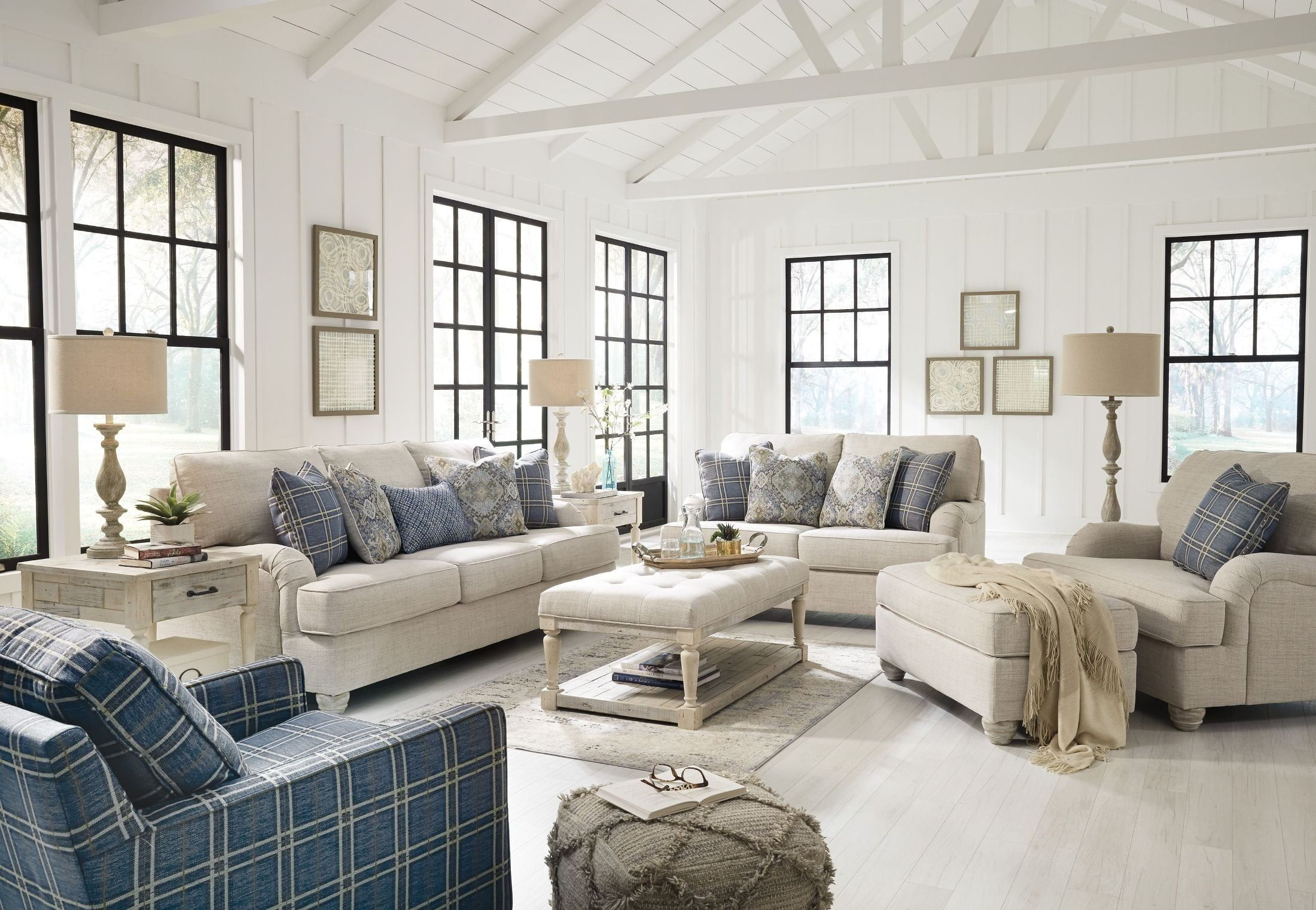 Traemore White Living Room Set By Ashley  Available With