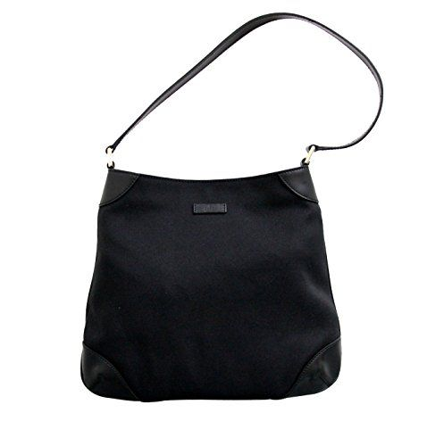 19dc3535ed9 Gucci Canvas Black Capri Handbag Hobo Shoulder Bag 257296 1000 - http   bags