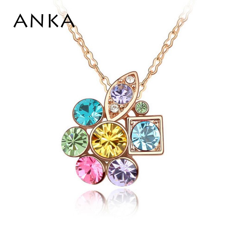 2017 Collier Jewelry Plated Jewelry Fashion Crystal Flower Pendant ...