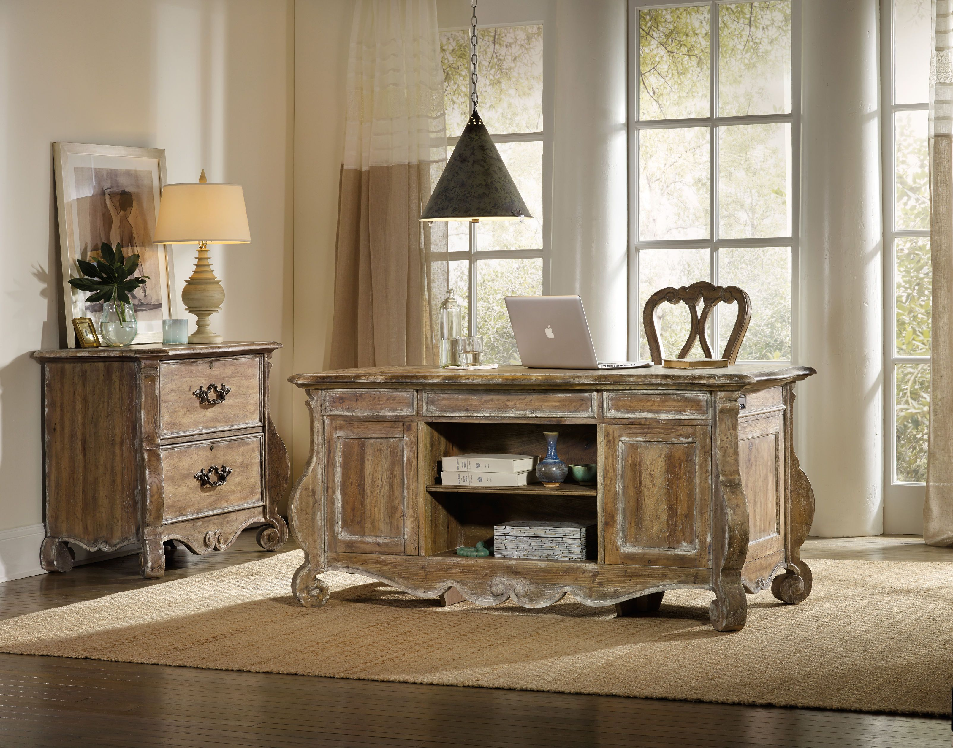 Hooker Furniture Home Office Glamorous Hooker Furniture Chatelet Executive Desk 530010563  New Office . Design Ideas
