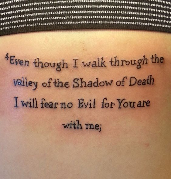 Even Though I Walk Through The Valley Of The Shadow Of Death I Will