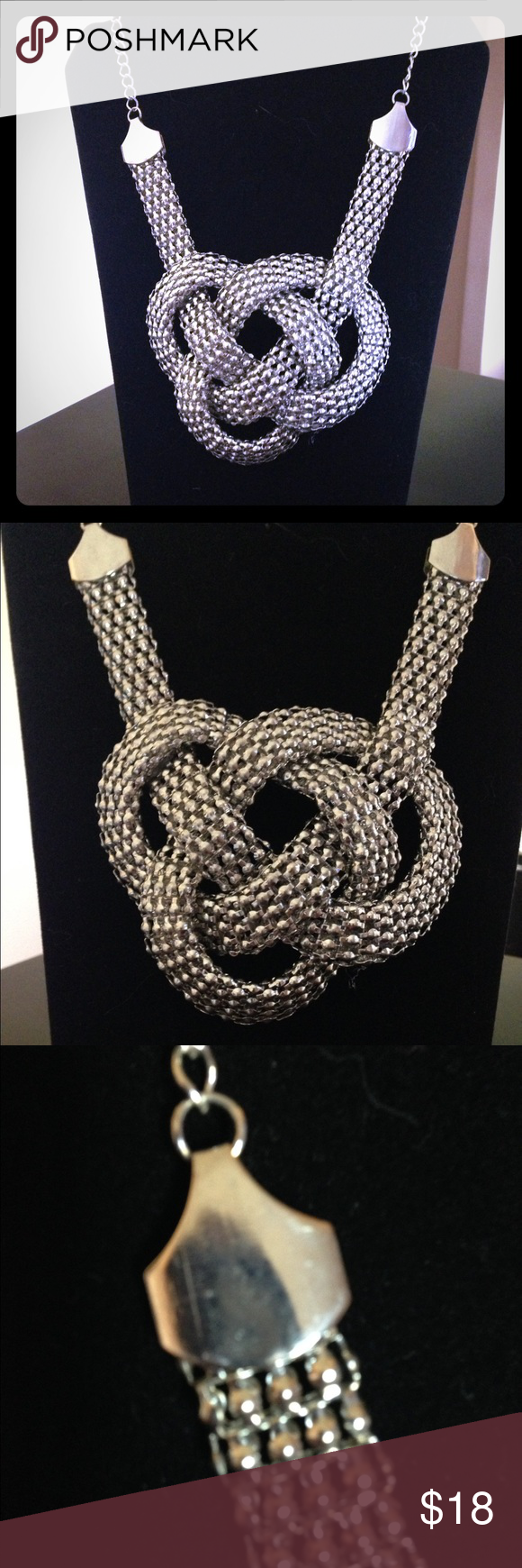 Dramatic Knotted Mesh Necklace Beautiful and lightweight