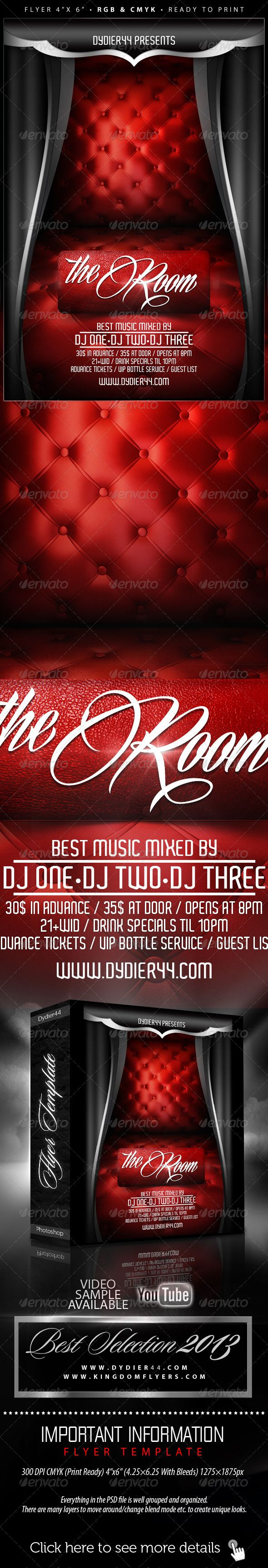 The Room Flyer Template 4x6 Fonts Logos Icons Pinterest