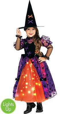 Toddler Girls Light-Up Twinkler Witch Costume | Halloween Costume ...