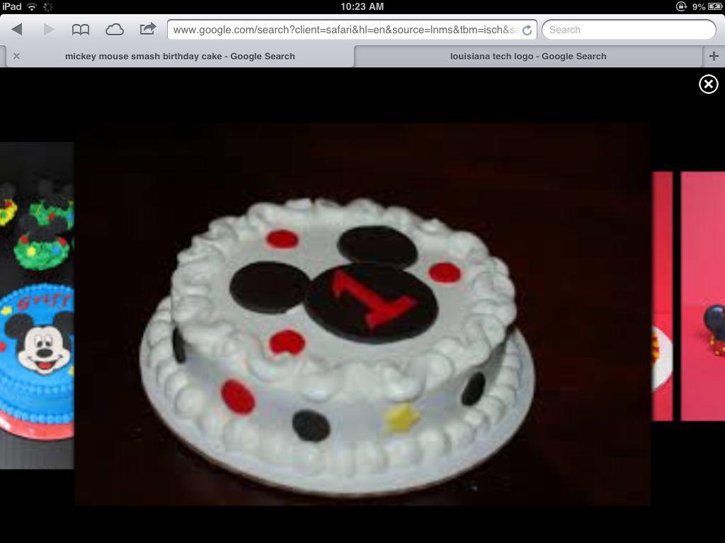 Smash Cake Eli S 1st Birthday Mickey Mouse Smash Cakes