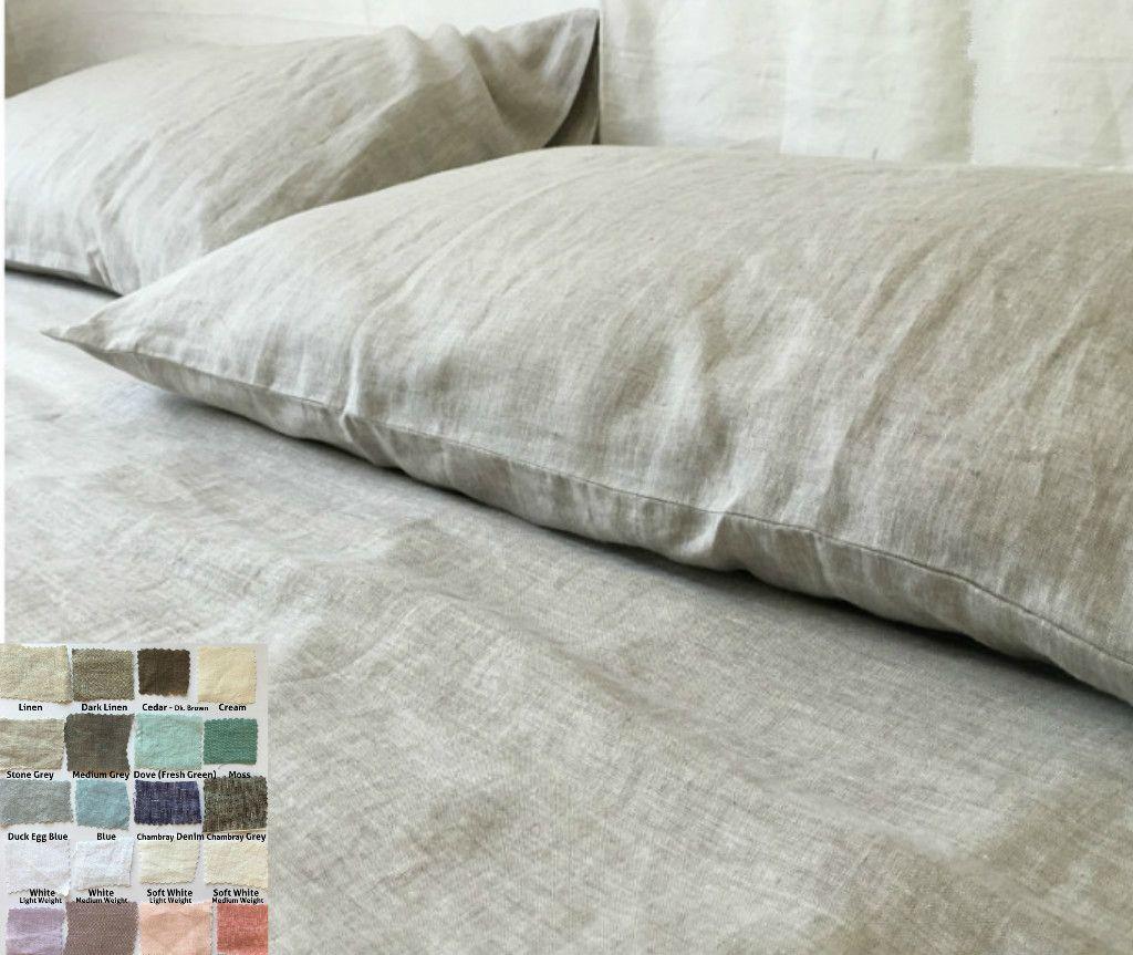 Linen Sheets Set Pick Your Color Linen Sheet Sets Bed Linens Luxury White Bed Sheets