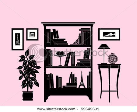 Home decoration, bookshelf   Printed Perfection, Graphic art ...