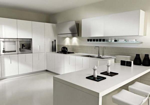 Cocina blanca minimalista mutfak fikir dekorasyonu Pinterest