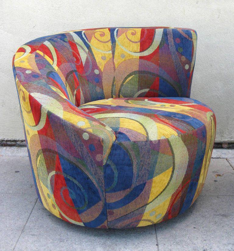 Pair Of Nautilus Chairs By Vladimir Kagan