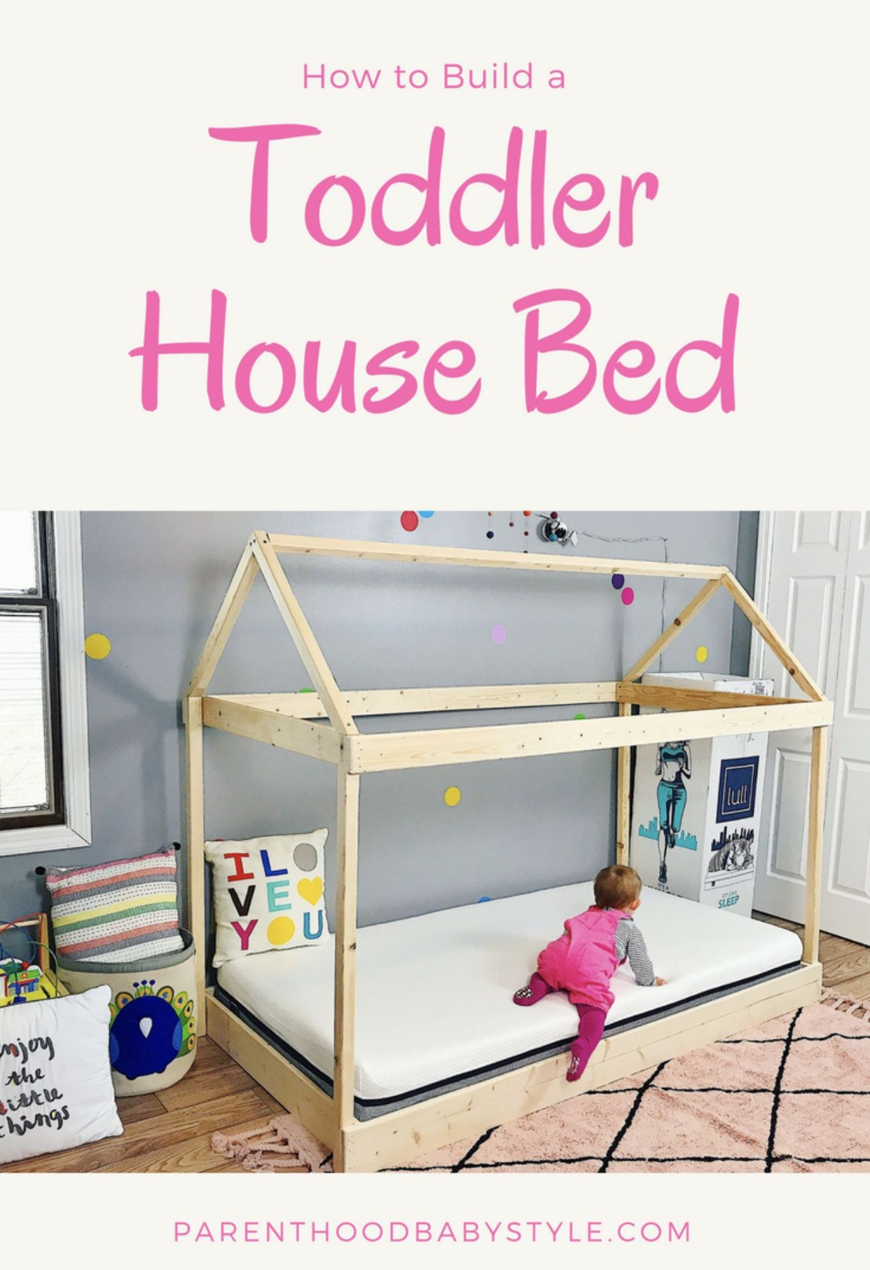 Toddler House Bed - Toddler Room - Diy House Bed