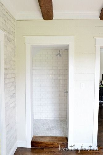 White Subway Tile Shower Our Master Shower Is Finished
