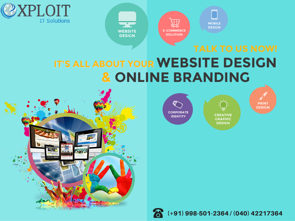 We take care of websites right from designing to online brand building and reputation management. Our vast experience in IT services helps us in providing quality services at affordable price. For more Details: www.exploitinfo.com Our Skype id: exploitinfo Other wise Call us: (+91) 998-501-2364 / 040 42217364 E-mail: info@exploitinfo.com #exploit #webdesign #websitedesign #webdesigncompany