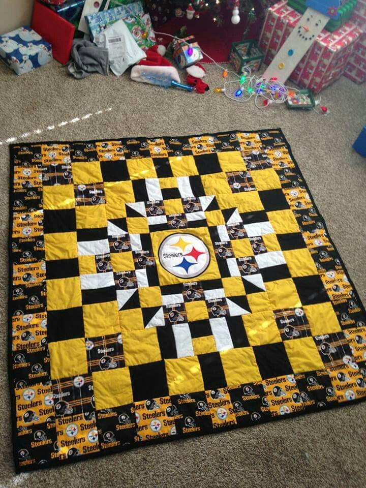 Steelers Nfl Quilt American Football Football Quilt