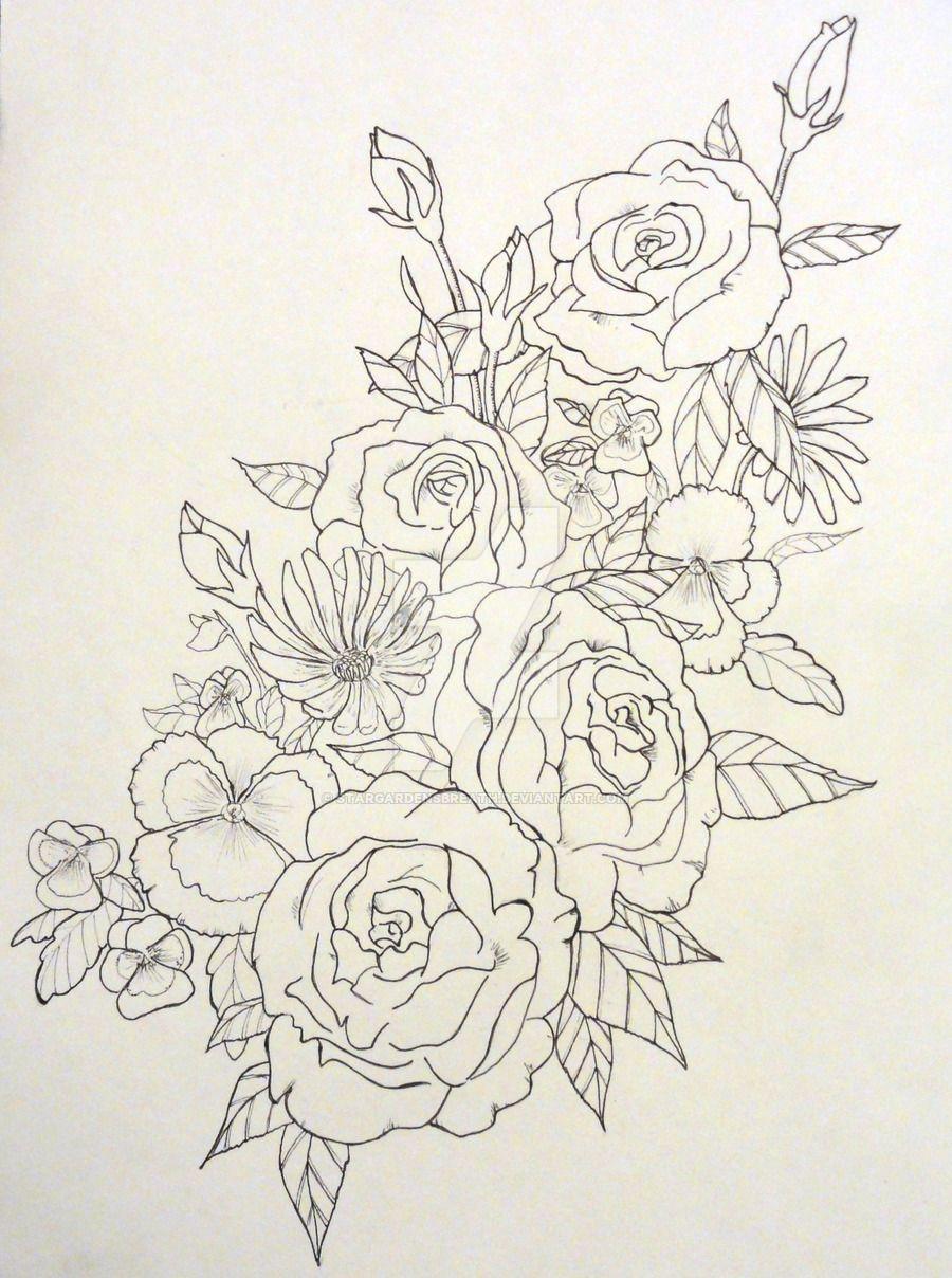 Tattoo Design Wildflowers By Stargardensbreath Deviantart Com On
