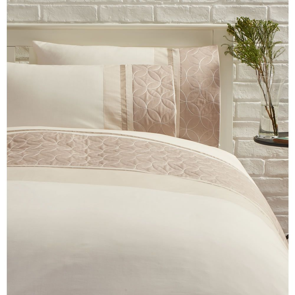 Wilko Taupe Quilted Duvet Set Double