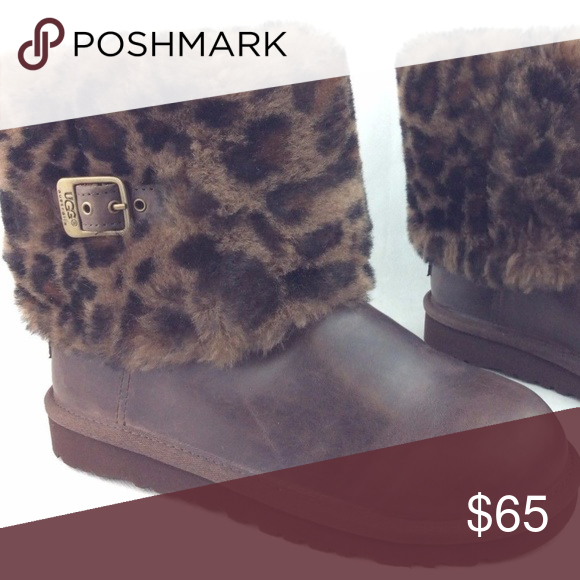 3e2e96da6ba UGG Ellee Animal Print Stout Leather Short Boots These boots have ...