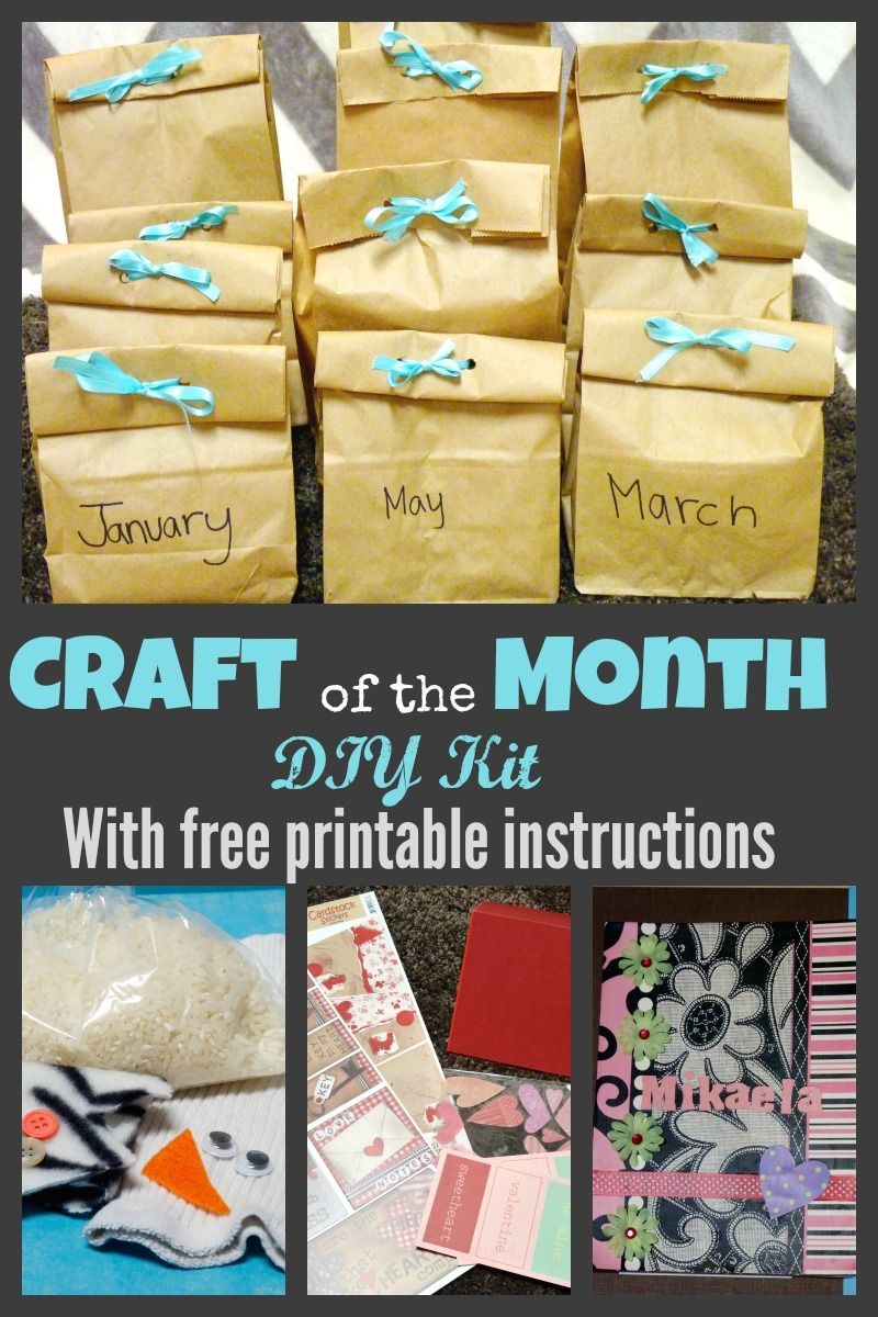 Diy Craft Of The Month Subscription Kit For Kids Fun And Creative
