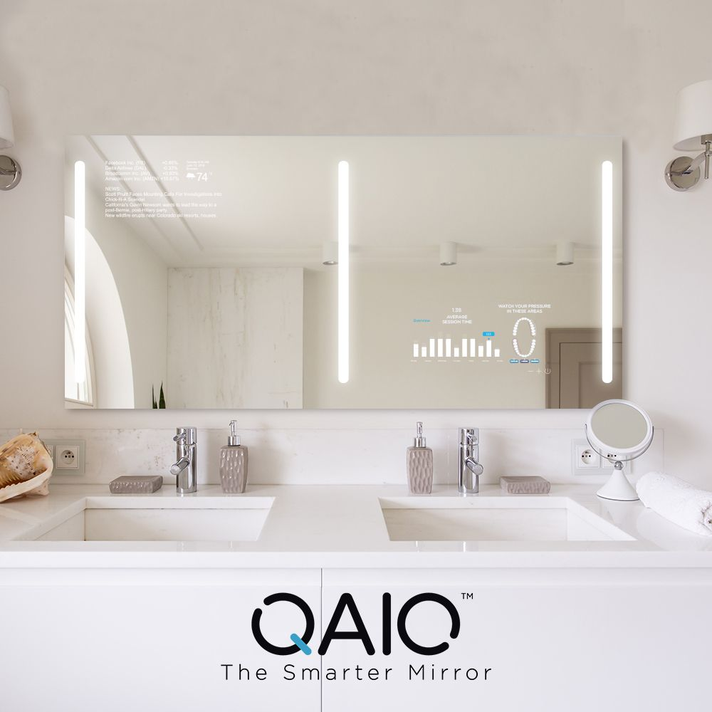 Qaio Double Sink Mirror Will Not Only Make Your Morning Routine Enjoyable Create Precious Moments With Your Partner And Th Mirror Double Sink Interior Concept [ 1000 x 1000 Pixel ]