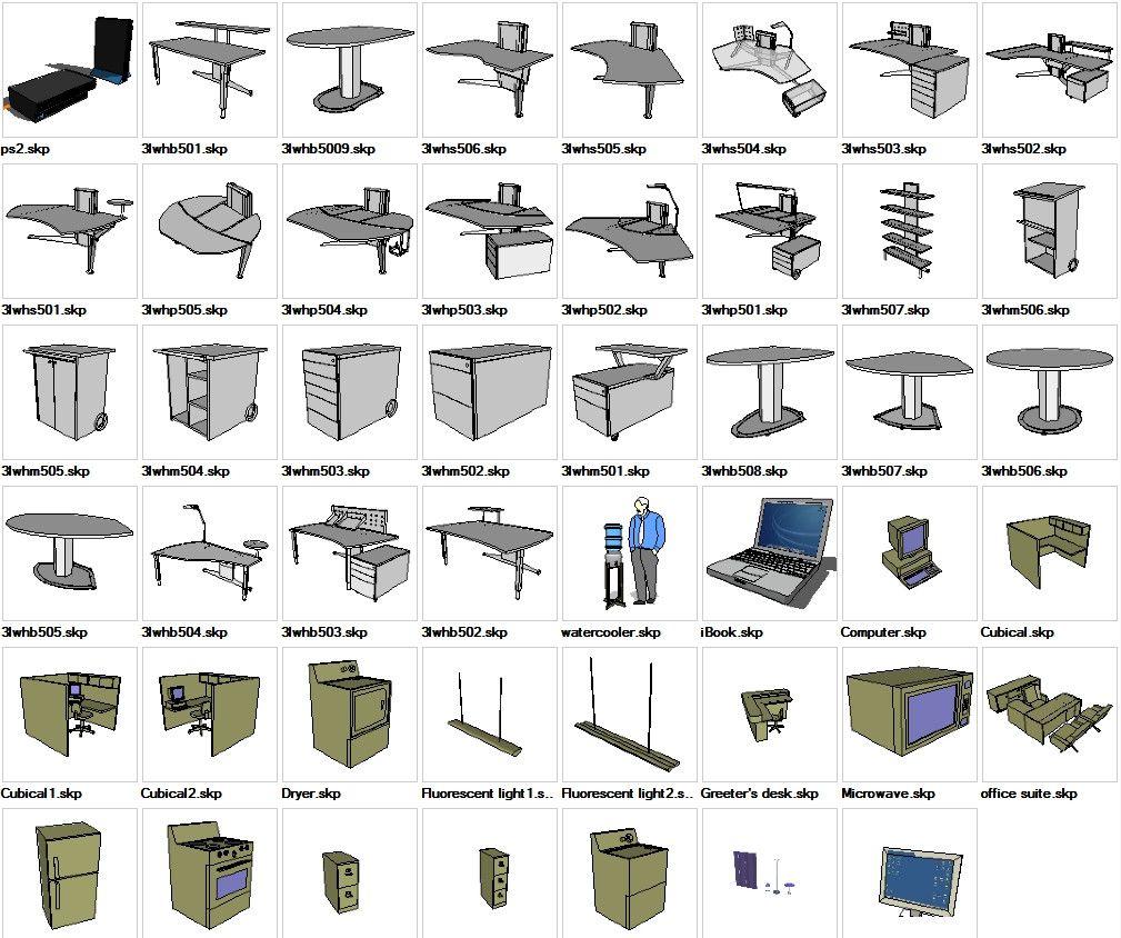 Free Online 3d Kitchen Design Tool: Sketchup Office 3D Models Download – CAD Design