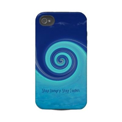 """""""Stay Hungry, Stay Foolish"""" Iphone 4 Tough Covers  $51.40"""