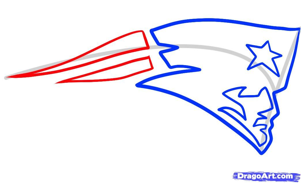 How To Draw The Patriots Logo New England Patriots Step 4 Pats