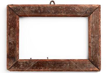 Old Wooden Frame On White Wood Picture Frames Diy Wood Diy