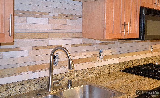 backsplash tile ideas for granite countertops new venetian gold granite with subway travertine backsplash tile - Tile Backsplashes With Granite Countertops