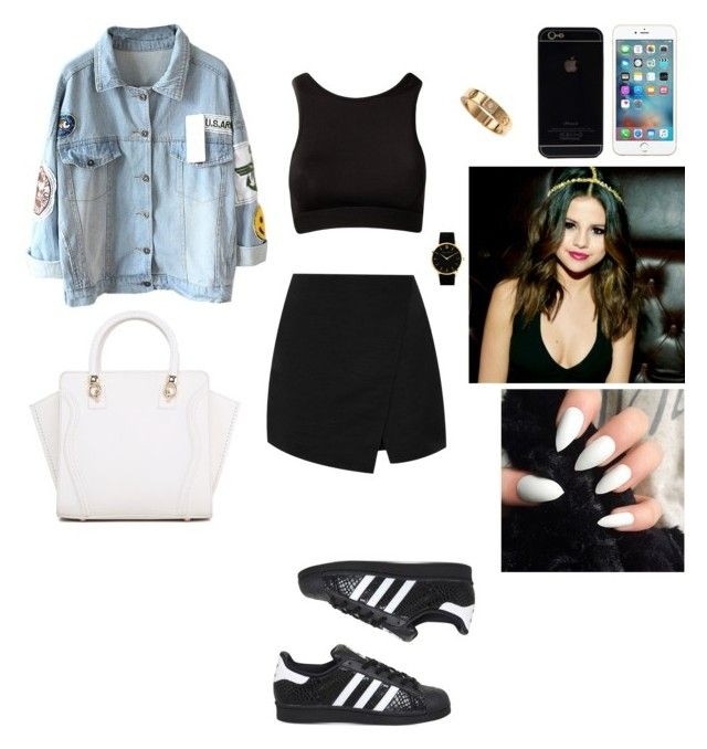"""""""Untitled #87"""" by thiffanyx3 ❤ liked on Polyvore featuring adidas, Topshop, Larsson & Jennings and Cartier"""