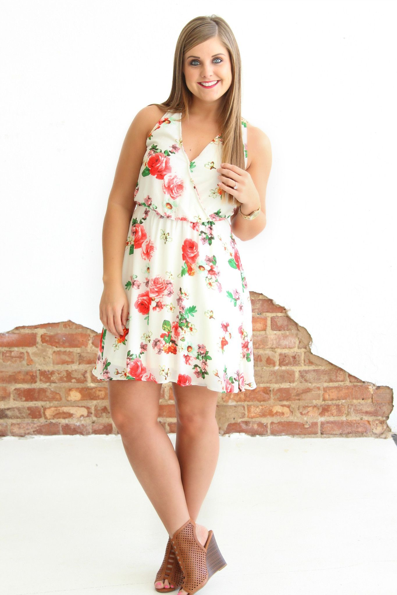 Queen for a day dress cream floral print dress dress preppy