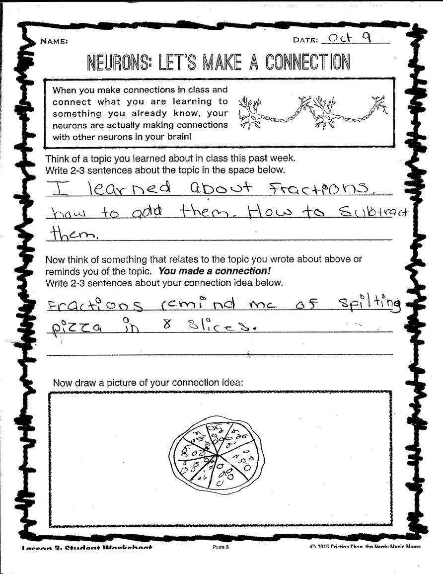Neurons Worksheet I Made For Students Mediate My Brain Pinterest
