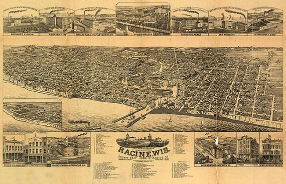 1883 Jacksonville OR Vintage Old Panoramic City Map 16x24
