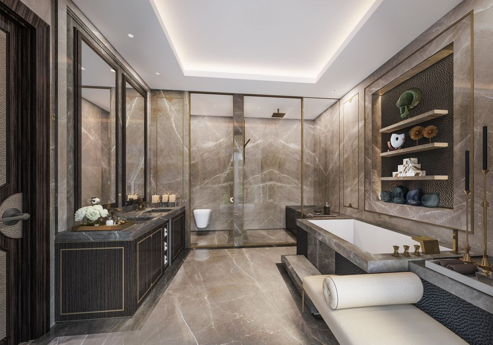Luxury Bathrooms In Hotels 5* hotel residences astana classical master bathroom | public