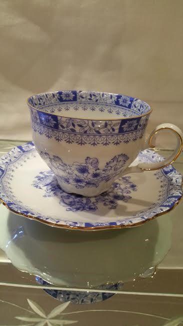 Rare Seltmann Weiden Cup Sauce Bavaria China Blue Pretty Tea