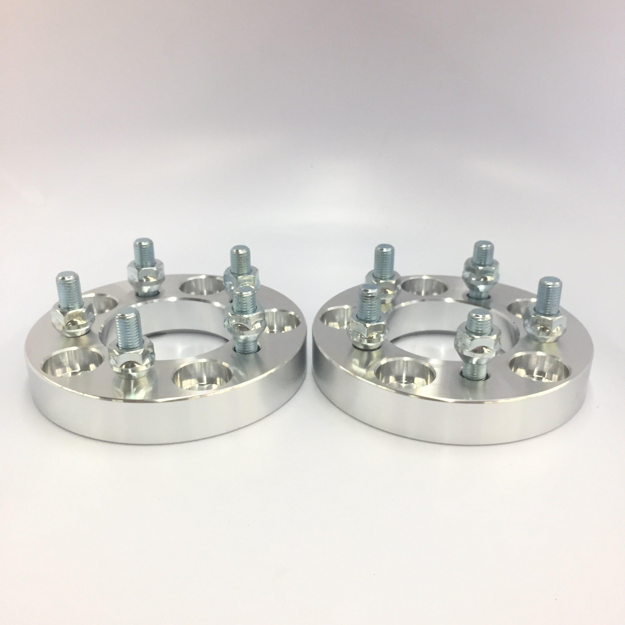 4 25mm 5x4.5 Wheel Spacers 1 Inch 5x114.3 Adapters 12x1.5 Studs Billet