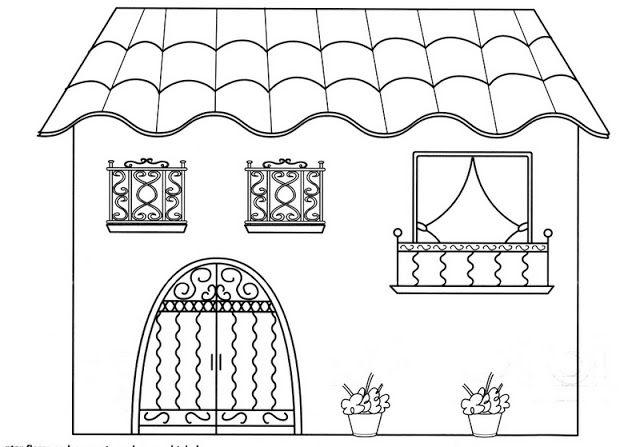 Casa bel n pinterest dibujos para for Fachadas de casas modernas para colorear