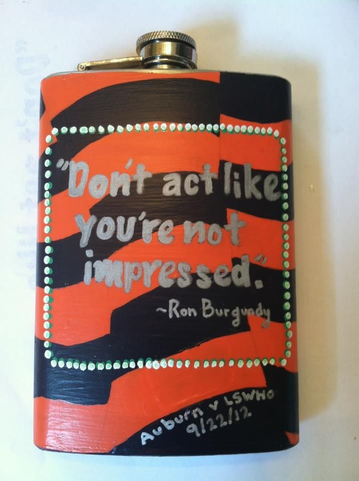 Painted flask. I like the quote haha